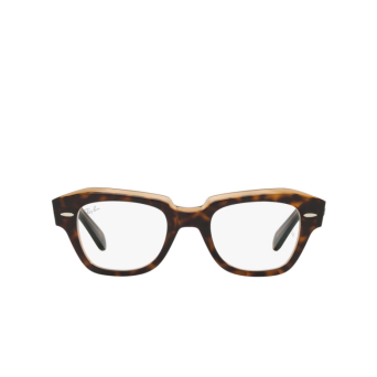 Ray-Ban® Square Eyeglasses: State Street RX5486 color Havana On Transparent Brown 5989.