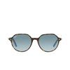 Ray-Ban® Irregular Sunglasses: Thalia RB2195 color Havana On Light Blue 13163M - product thumbnail 1/3.