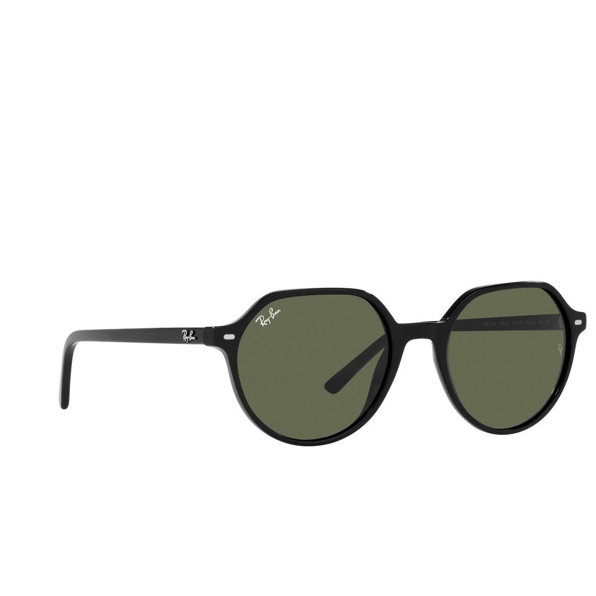 Ray-Ban® Irregular Sunglasses: Thalia RB2195 color Black 901/31.