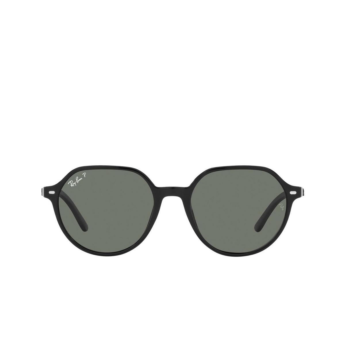 Ray-Ban® Irregular Sunglasses: Thalia RB2195 color Black 901/58.