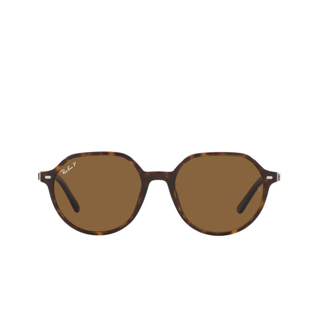 Ray-Ban® Irregular Sunglasses: Thalia RB2195 color Havana 902/57.