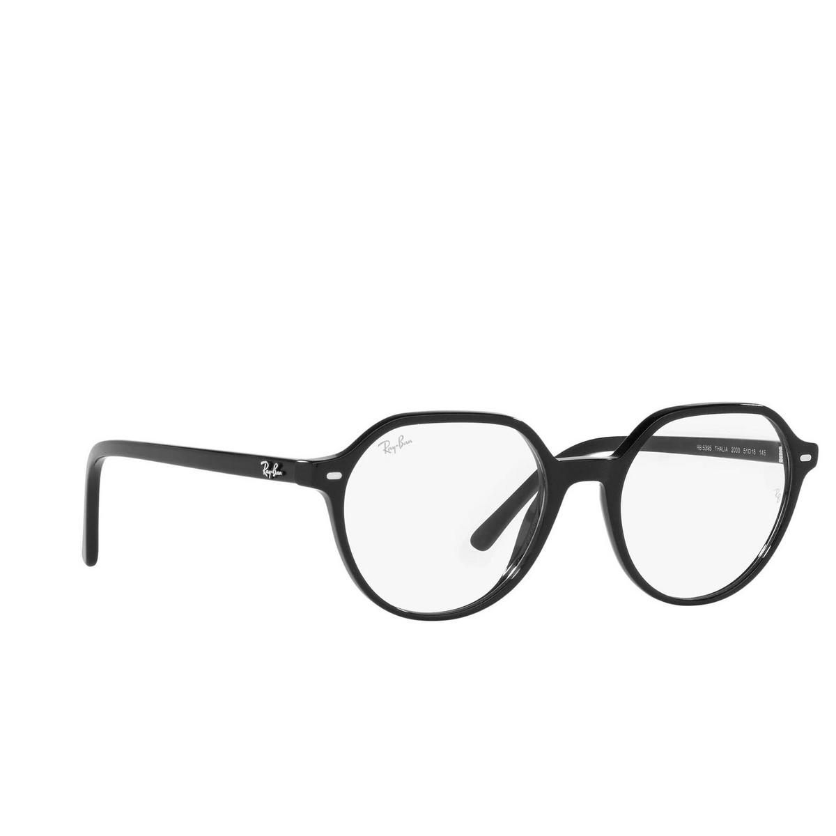 Ray-Ban® Irregular Eyeglasses: Thalia RX5395 color Black 2000.