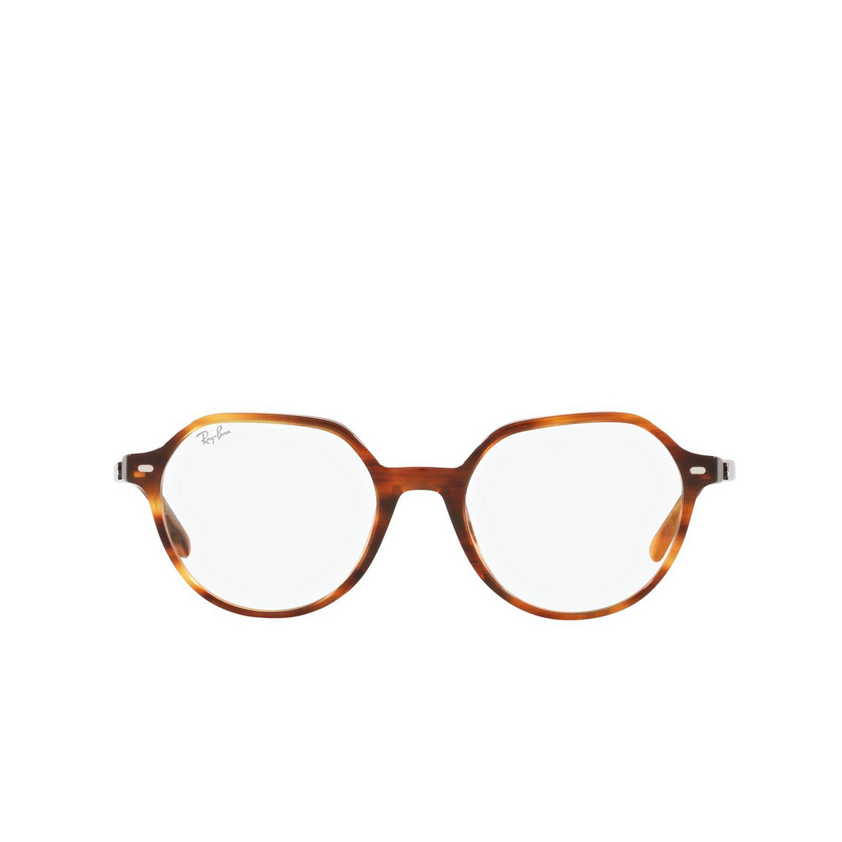 Ray-Ban® Irregular Eyeglasses: Thalia RX5395 color Striped Havana 2144.
