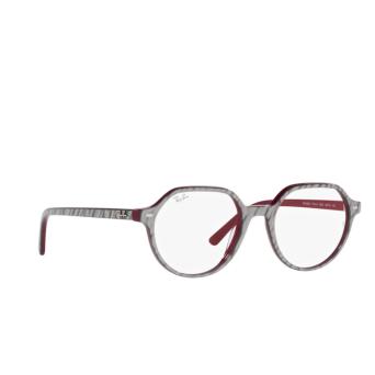 Ray-Ban® Irregular Eyeglasses: Thalia RX5395 color Wrinkled Grey On Bordeaux 8050.