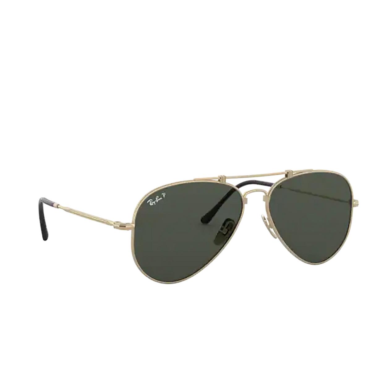 Ray-Ban® Aviator Sunglasses: Titanium RB8125M color Demi Gloss White Gold 9143 - 2/3.
