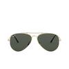 Ray-Ban® Aviator Sunglasses: Titanium RB8125M color Demi Gloss White Gold 9143 - product thumbnail 1/3.