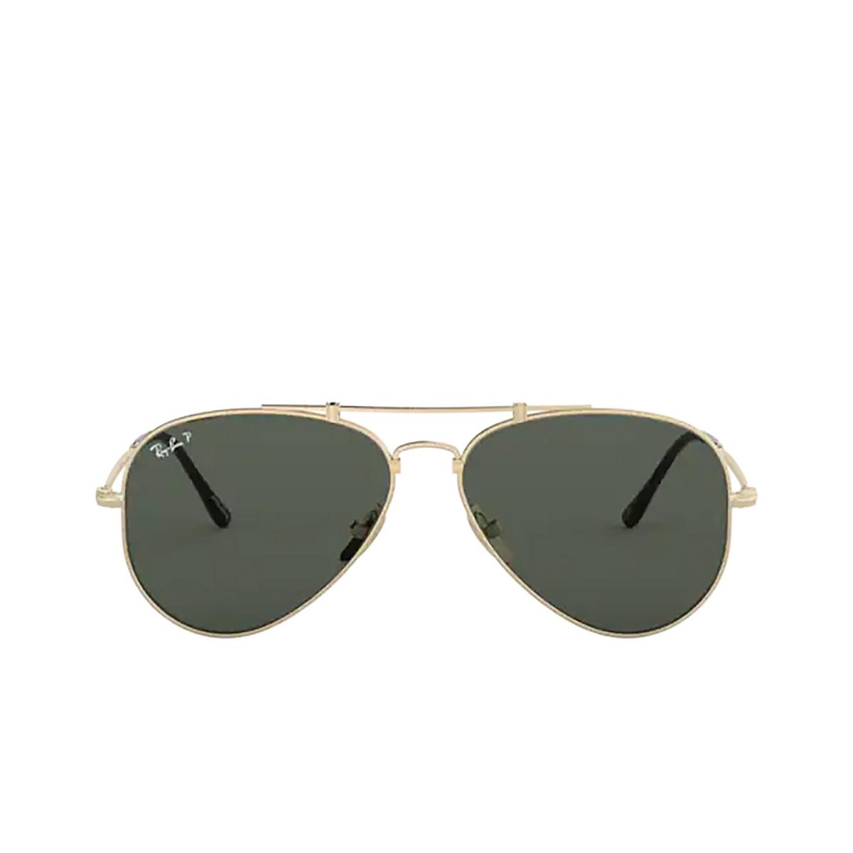 Ray-Ban® Aviator Sunglasses: Titanium RB8125M color Demi Gloss White Gold 9143 - 1/3.