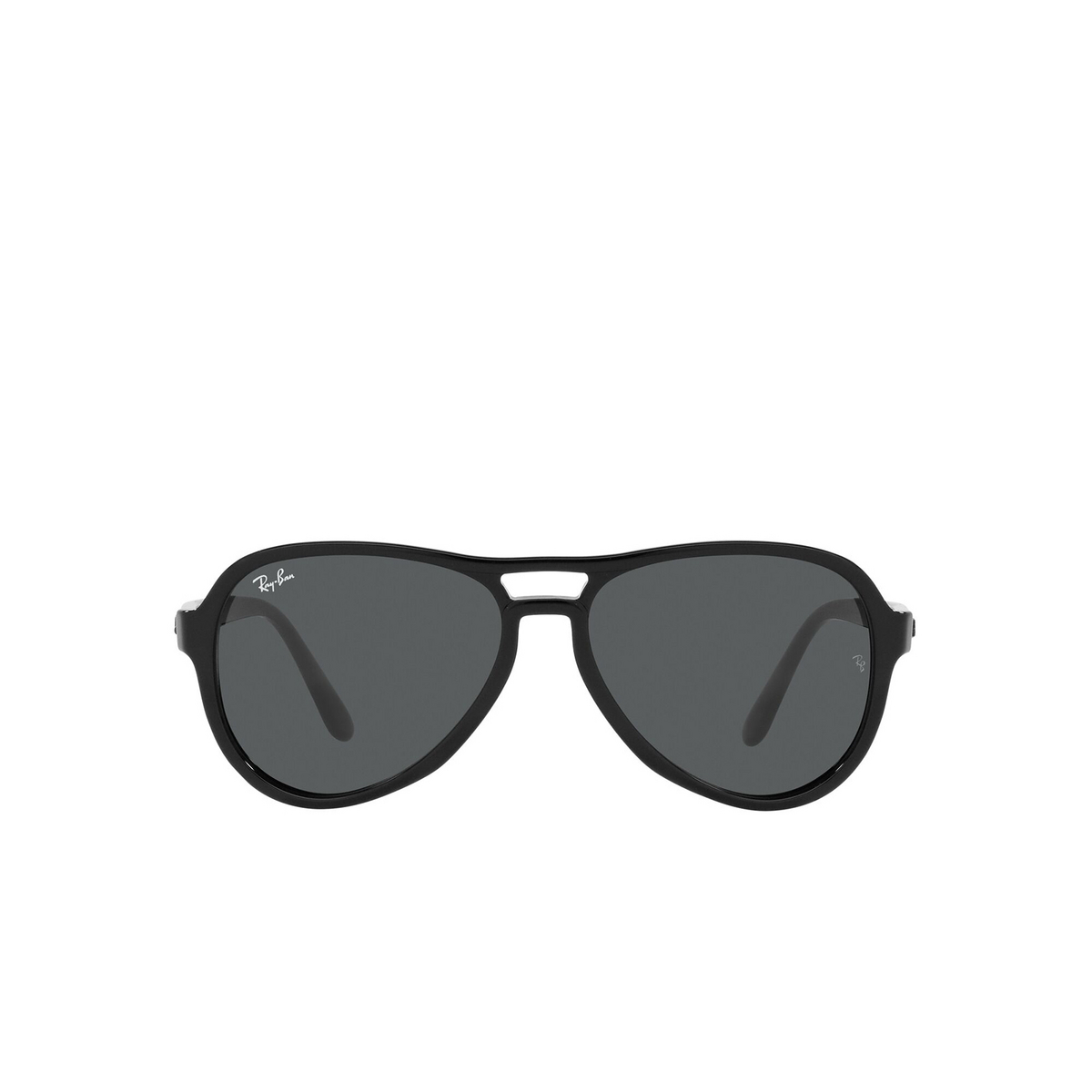 Ray-Ban® Aviator Sunglasses: Vagabond RB4355 color Black 601/B1 - front view.