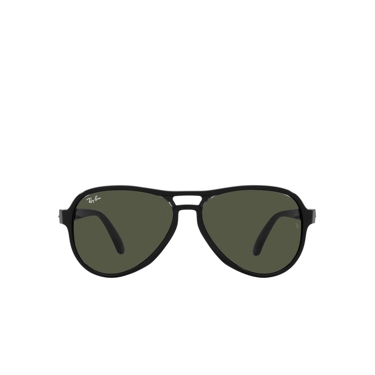 Ray-Ban® Aviator Sunglasses: Vagabond RB4355 color Black Transparent 654531 - front view.