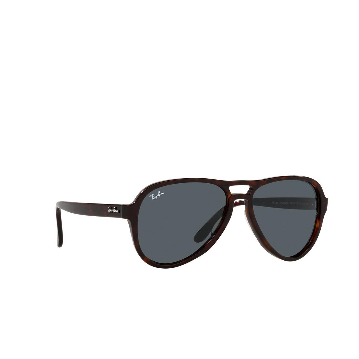 Ray-Ban® Aviator Sunglasses: Vagabond RB4355 color Havana 902/R5 - three-quarters view.