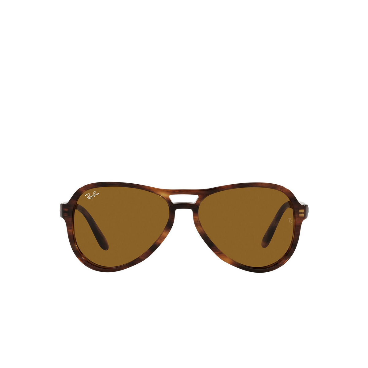 Ray-Ban® Aviator Sunglasses: Vagabond RB4355 color Striped Havana 954/33 - front view.