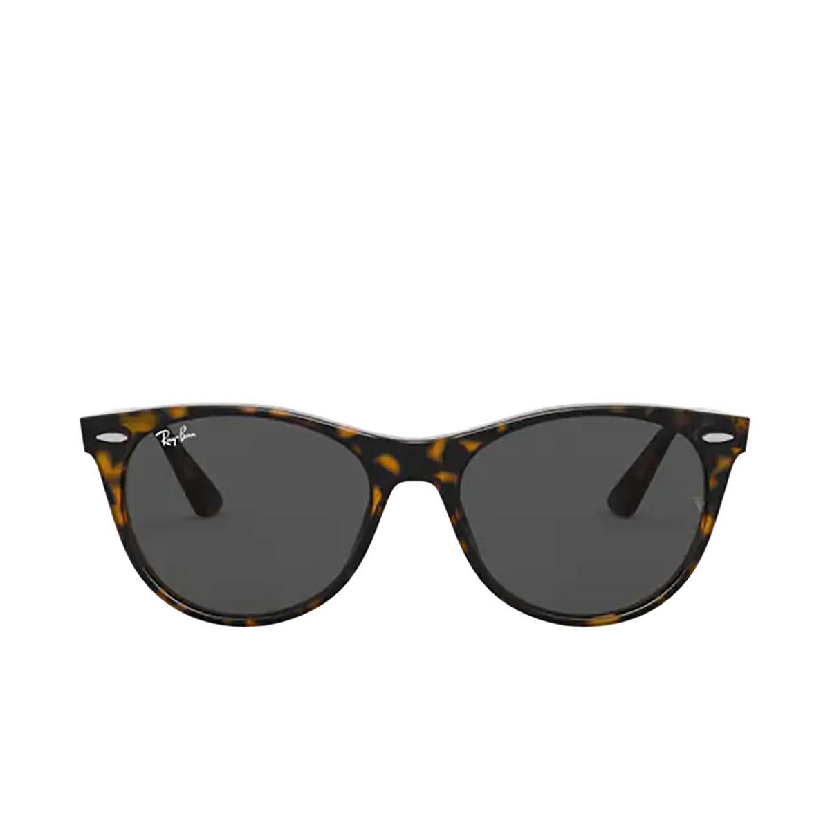 Ray-Ban® Round Sunglasses: Wayfarer Ii RB2185 color Havana On Transparent Light Bro 1292B1 - front view.
