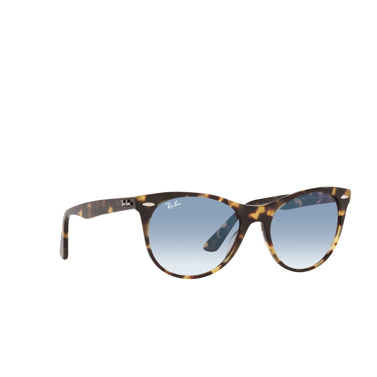 Ray-Ban® Round Sunglasses: Wayfarer Ii RB2185 color Yellow Havana 13323F - three-quarters view.