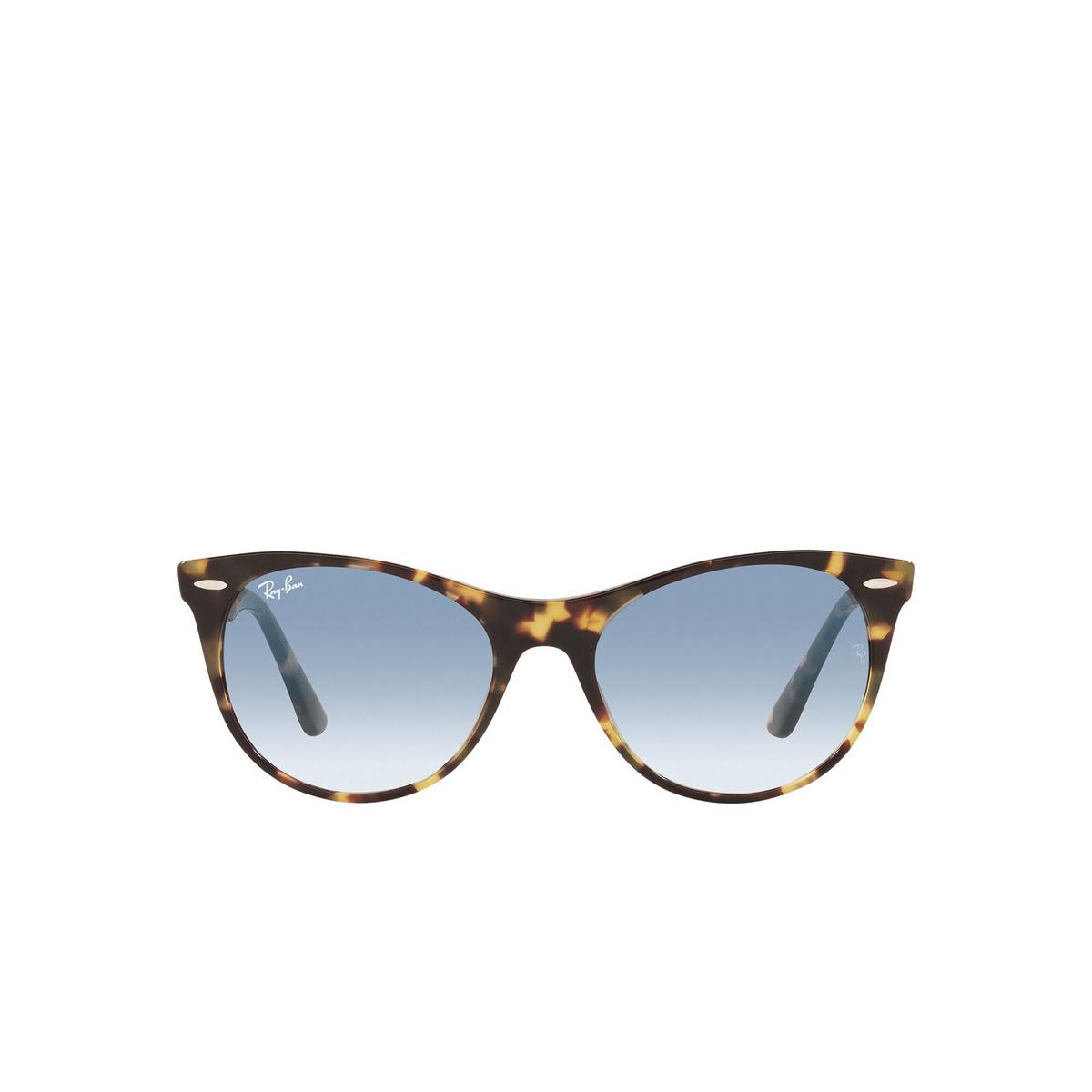 Ray-Ban® Round Sunglasses: Wayfarer Ii RB2185 color Yellow Havana 13323F - front view.