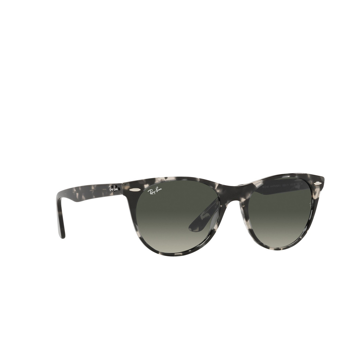 Ray-Ban® Round Sunglasses: Wayfarer Ii RB2185 color Gray Havana 133371 - three-quarters view.
