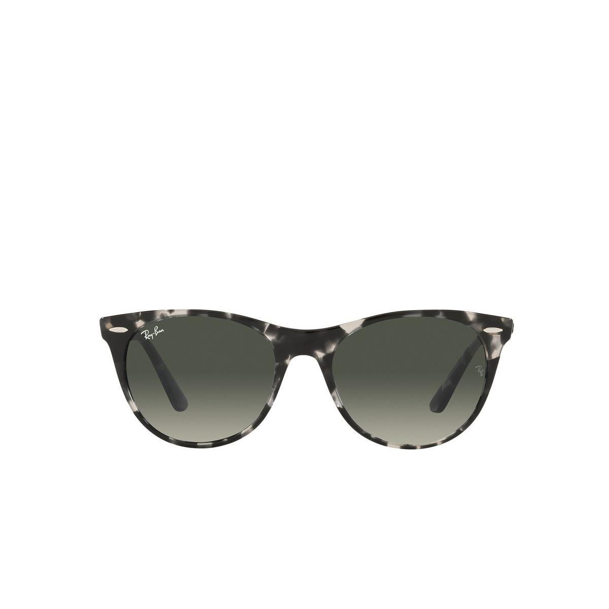 Ray-Ban® Round Sunglasses: Wayfarer Ii RB2185 color Gray Havana 133371 - front view.
