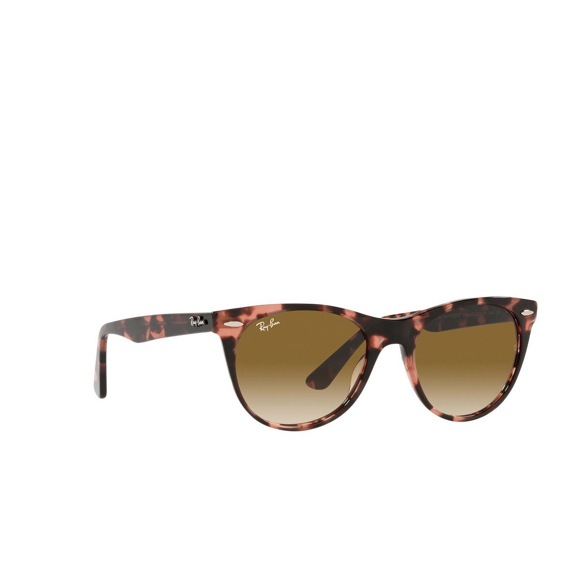 Ray-Ban® Round Sunglasses: Wayfarer Ii RB2185 color Pink Havana 133451 - three-quarters view.