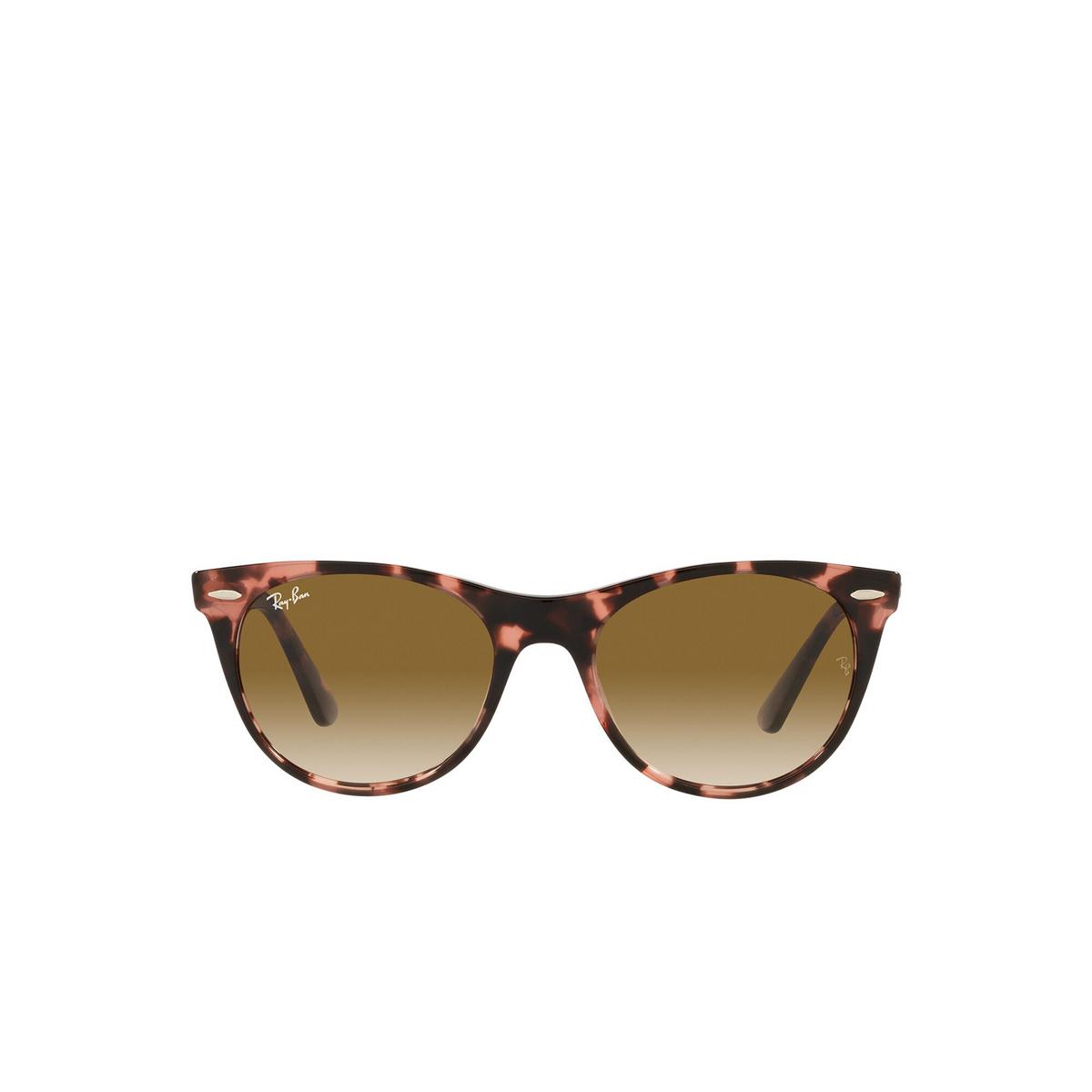 Ray-Ban® Round Sunglasses: Wayfarer Ii RB2185 color Pink Havana 133451 - front view.