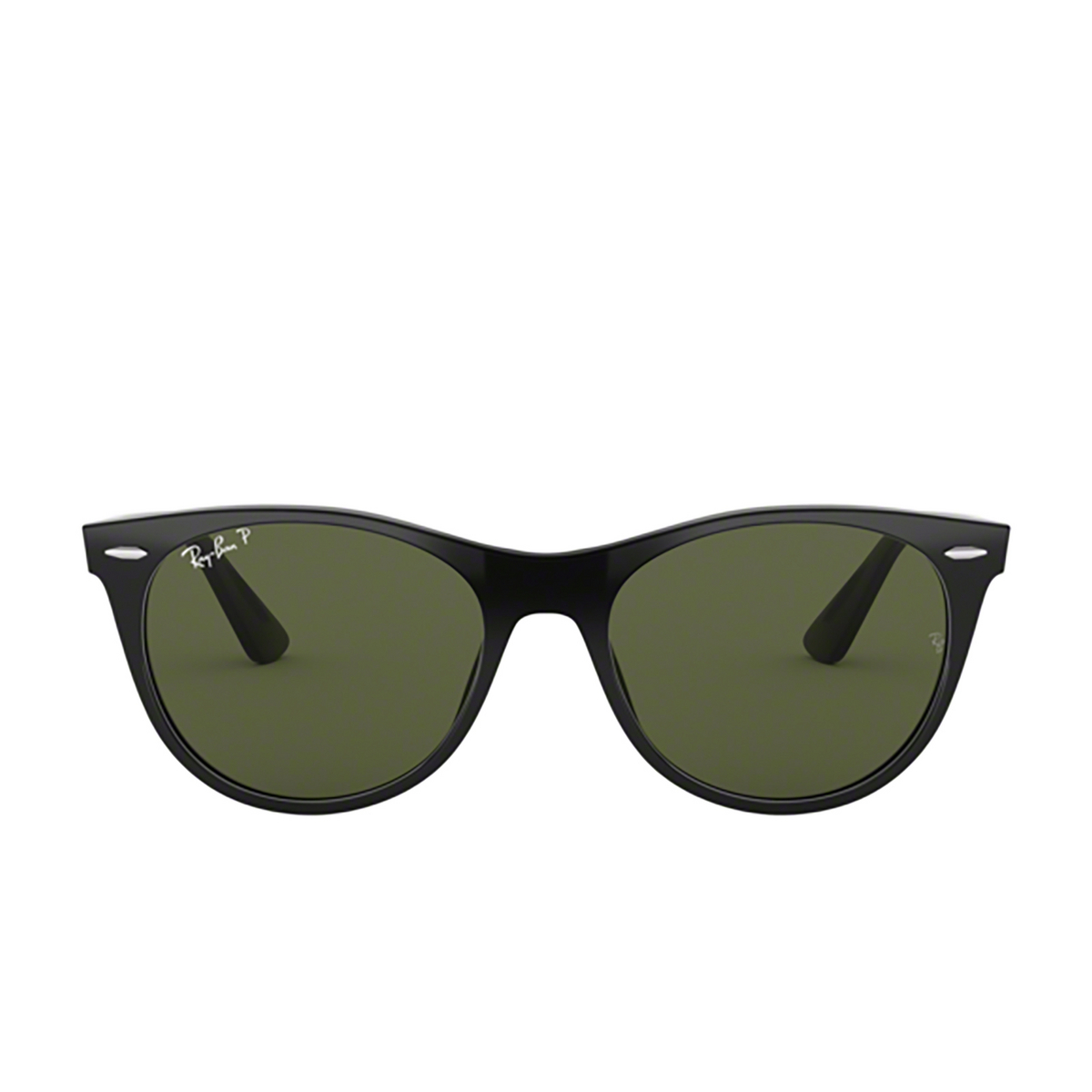Ray-Ban® Square Sunglasses: Wayfarer Ii RB2185 color Black 901/58 - front view.