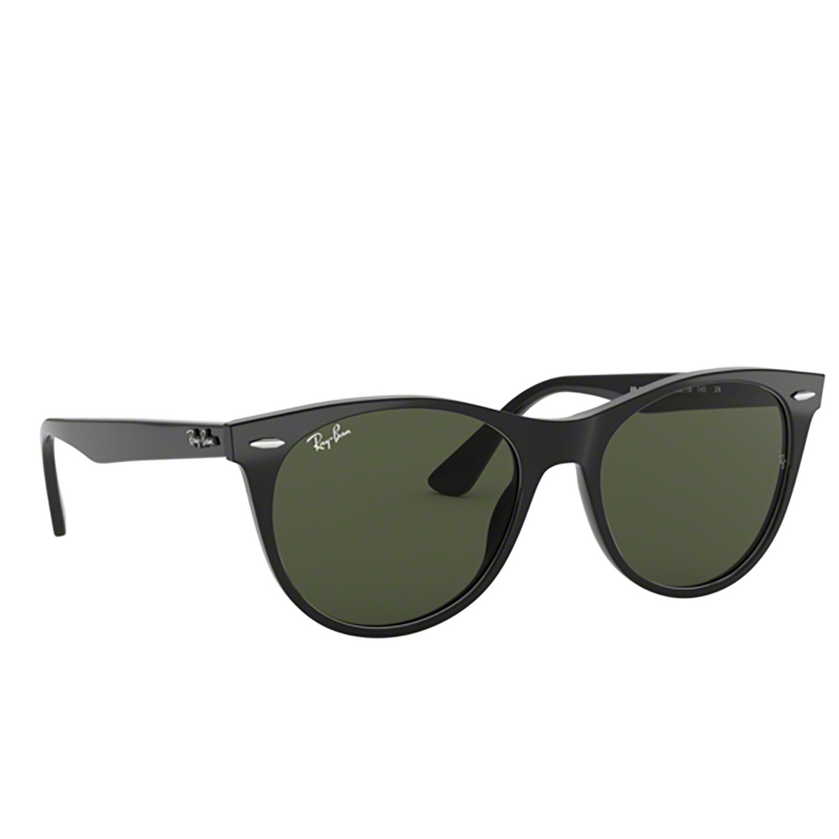 Ray-Ban® Square Sunglasses: Wayfarer Ii RB2185 color Black 901/31 - three-quarters view.