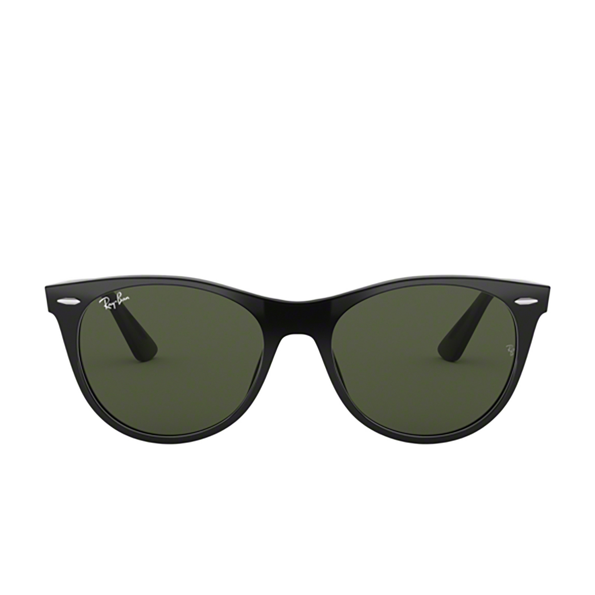 Ray-Ban® Square Sunglasses: Wayfarer Ii RB2185 color Black 901/31 - front view.