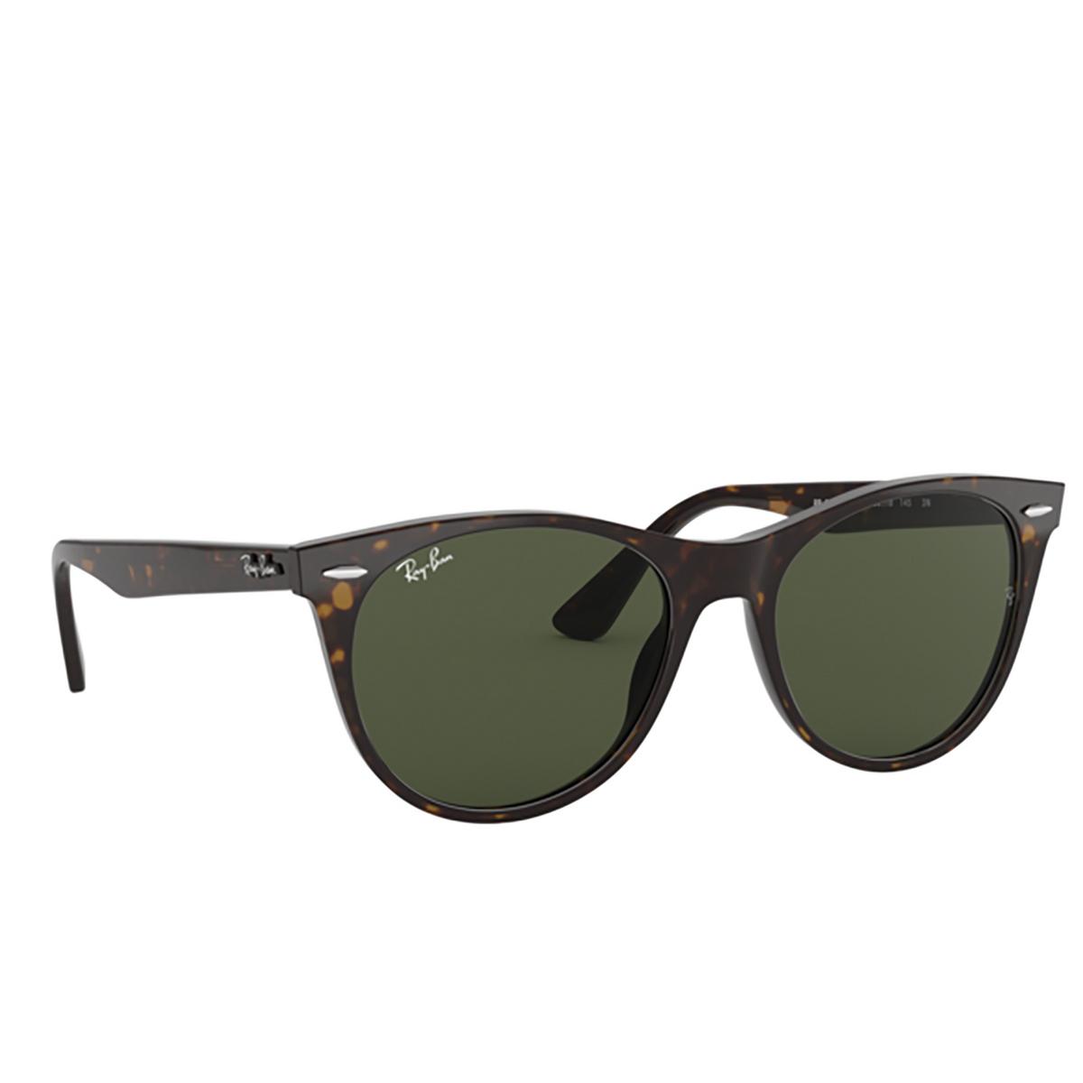 Ray-Ban® Square Sunglasses: Wayfarer Ii RB2185 color Tortoise 902/31 - three-quarters view.