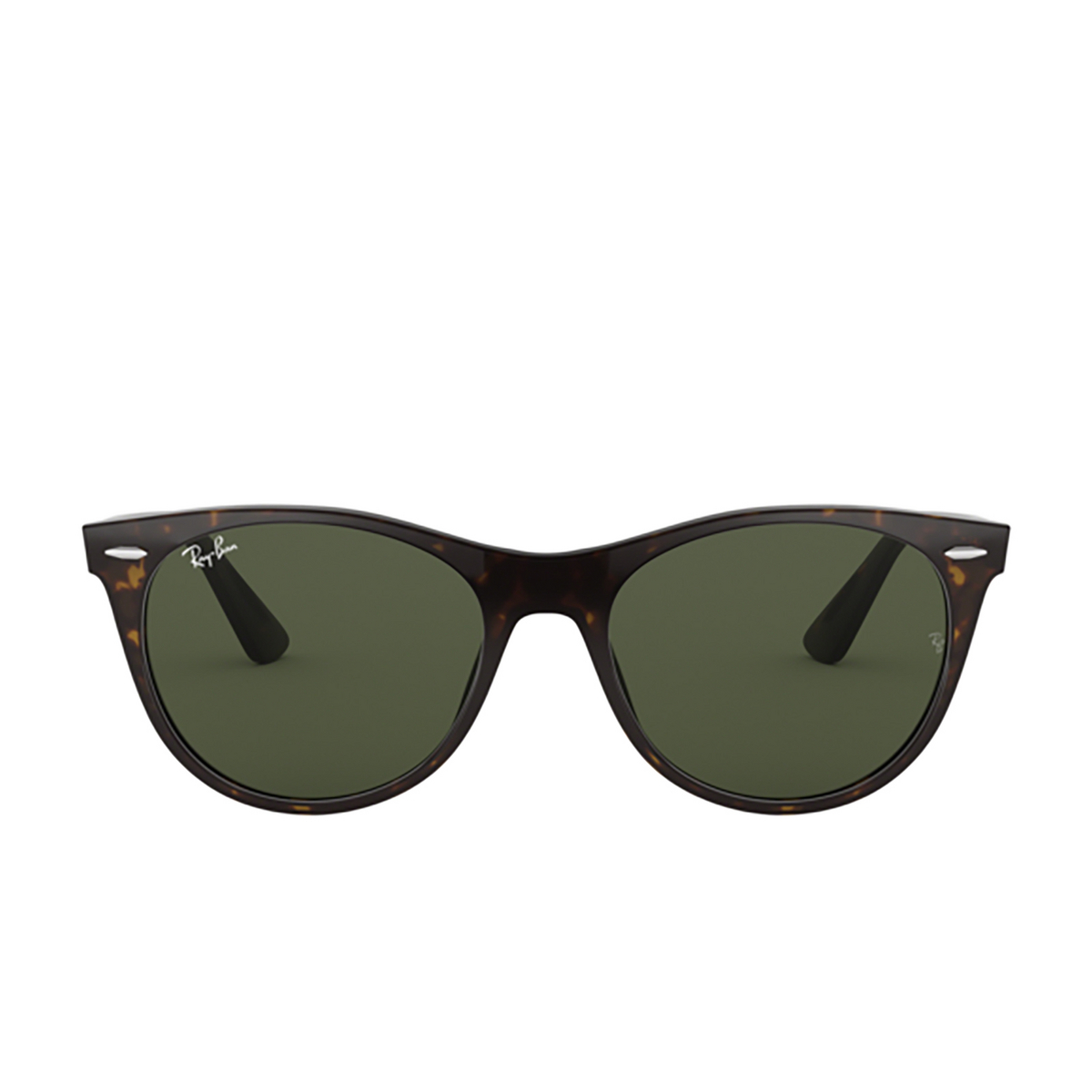 Ray-Ban® Square Sunglasses: Wayfarer Ii RB2185 color Tortoise 902/31 - front view.