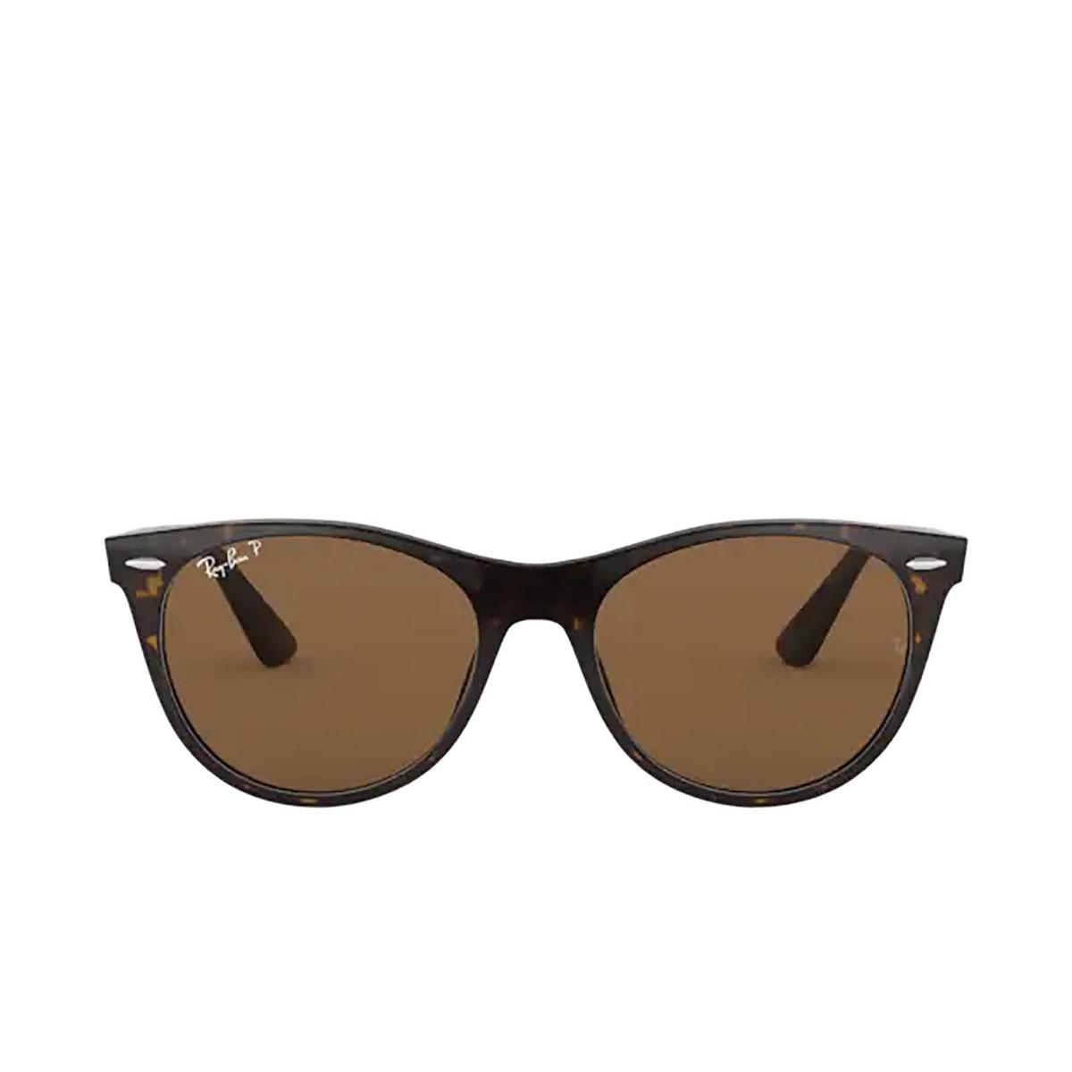 Ray-Ban® Round Sunglasses: Wayfarer Ii RB2185 color Tortoise 902/57.