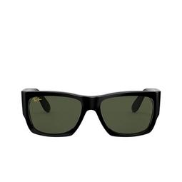 Ray-Ban® Square Sunglasses: Wayfarer Nomad RB2187 color Shiny Black 901/31.