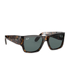 Ray-Ban® Square Sunglasses: Wayfarer Nomad RB2187 color Tortoise 902/R5 - product thumbnail 2/3.