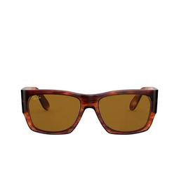 Ray-Ban® Square Sunglasses: Wayfarer Nomad RB2187 color Striped Havana 954/33.