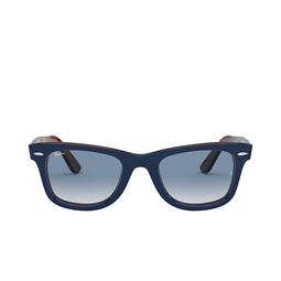 Ray-Ban® Square Sunglasses: Wayfarer RB2140 color Blue On Red Havana 12783F.
