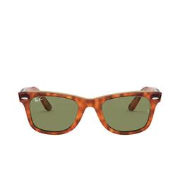 Ray-Ban® Square Sunglasses: Wayfarer RB2140 color Havana On Transparent Beige 12934E.