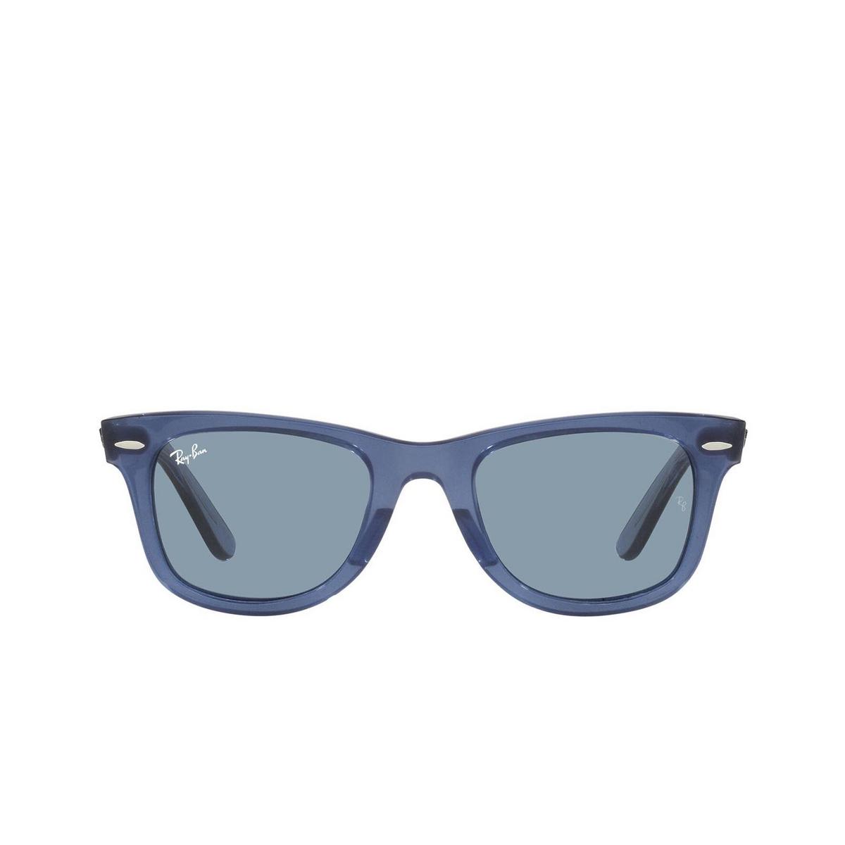 Ray-Ban® Square Sunglasses: Wayfarer RB2140 color True Blue 658756.