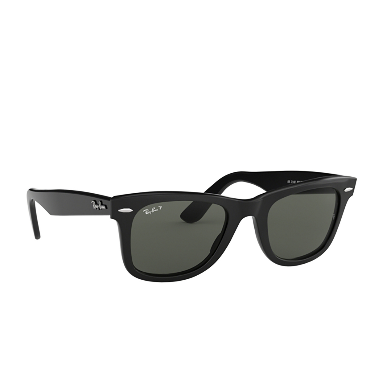 Ray-Ban® Square Sunglasses: Wayfarer RB2140 color Black 901/58 - 2/3.