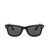 Ray-Ban® Square Sunglasses: Wayfarer RB2140 color Black 901/58 - product thumbnail 1/3.