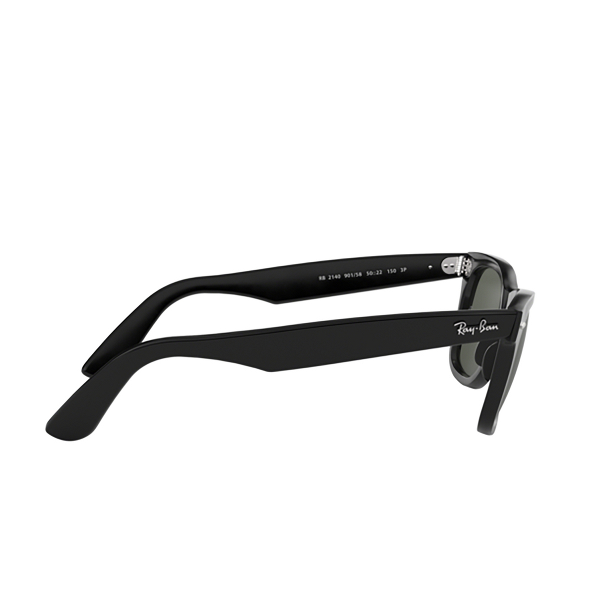 Ray-Ban® Square Sunglasses: Wayfarer RB2140 color Black 901/58 - 3/3.