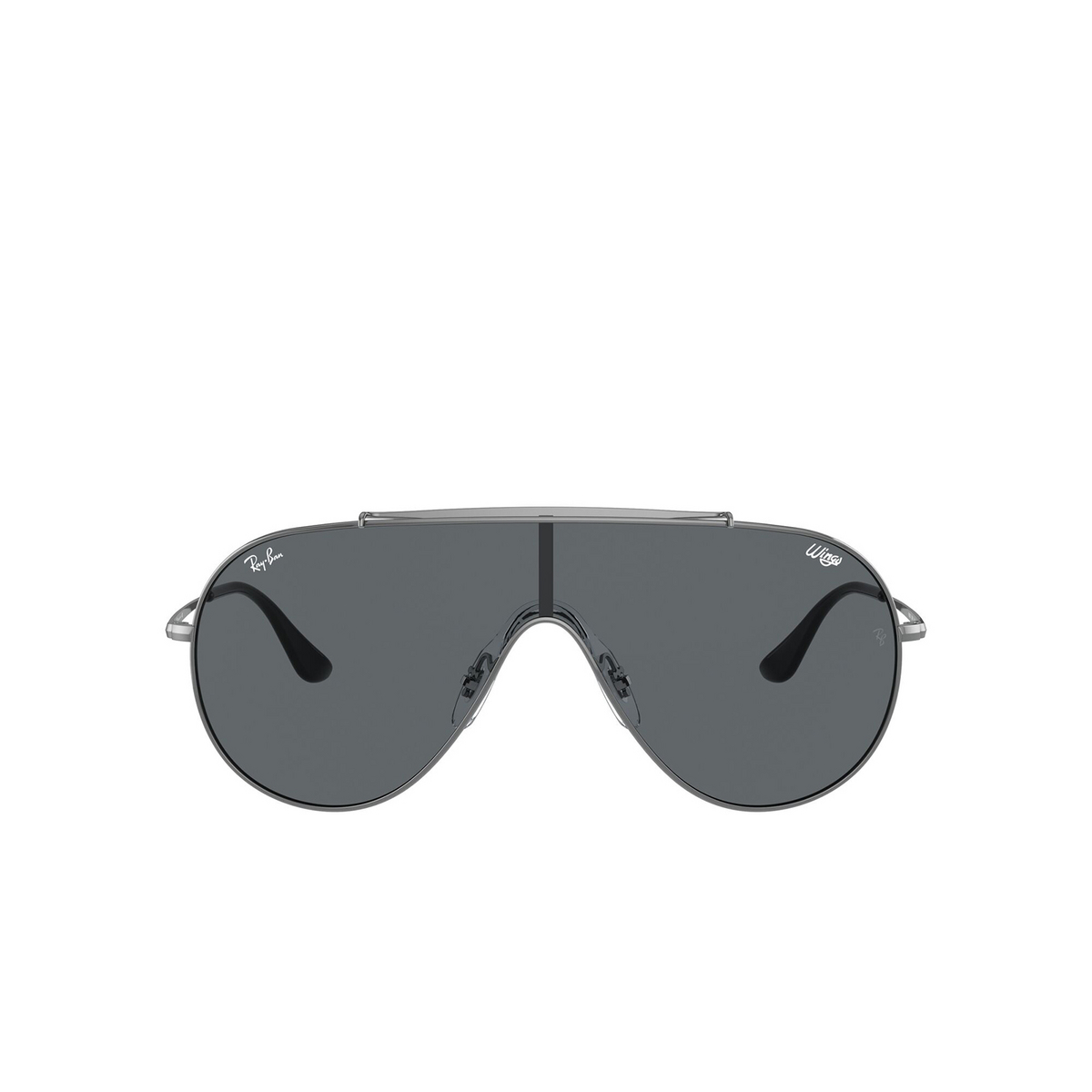 Ray-Ban® Aviator Sunglasses: Wings RB3597 color Gunmetal 004/87 - front view.