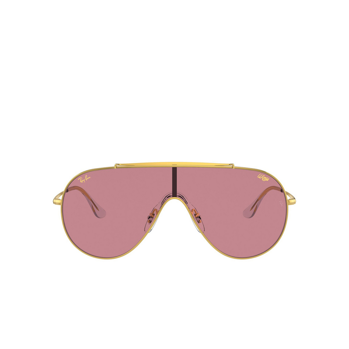 Ray-Ban® Aviator Sunglasses: Wings RB3597 color Legend Gold 919684 - front view.