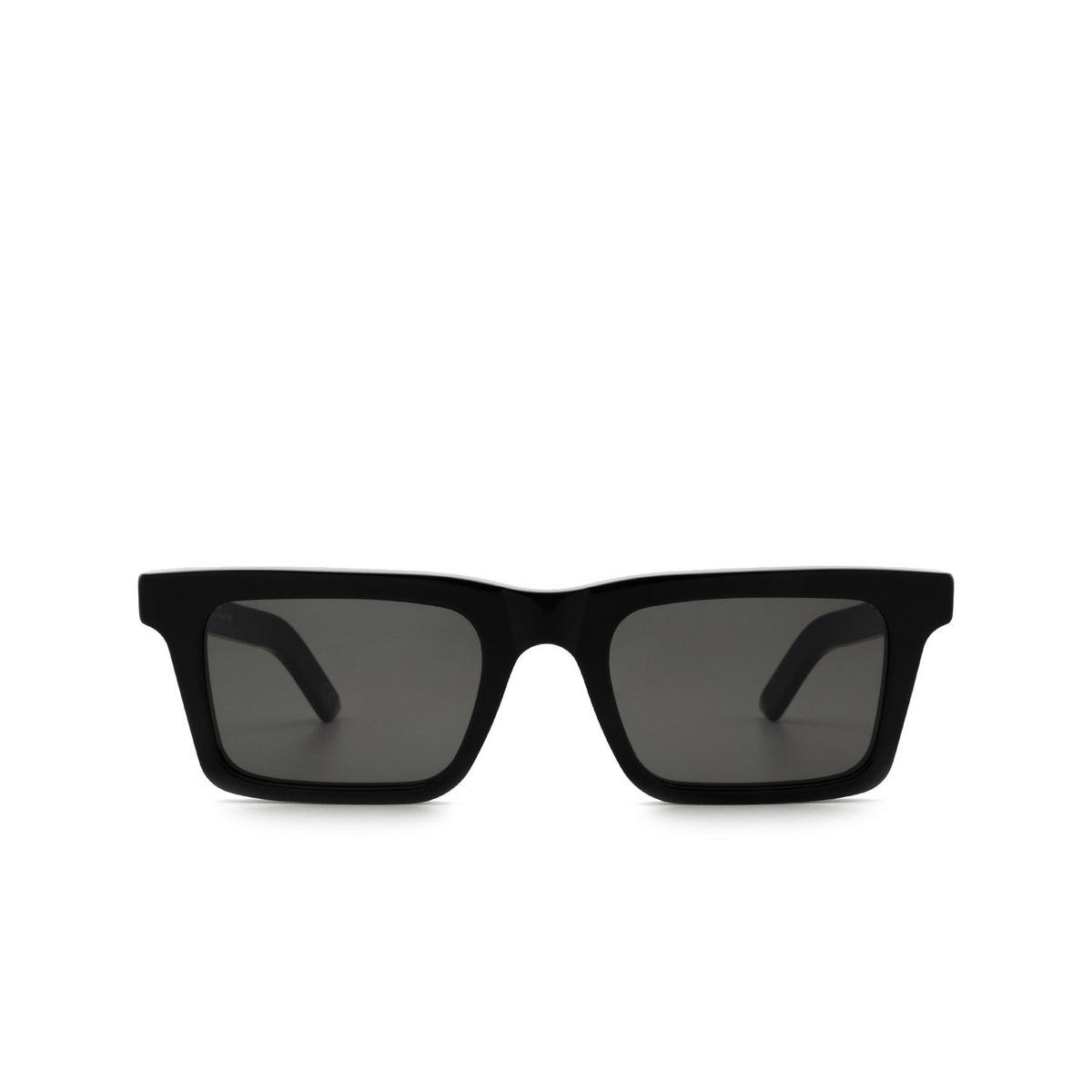 Retrosuperfuture® Rectangle Sunglasses: 1968 color Black UU1 - front view.