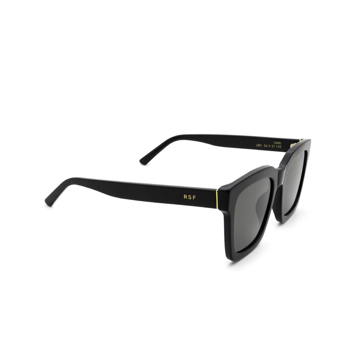 Retrosuperfuture® Square Sunglasses: Aalto color Black UR1 - three-quarters view.
