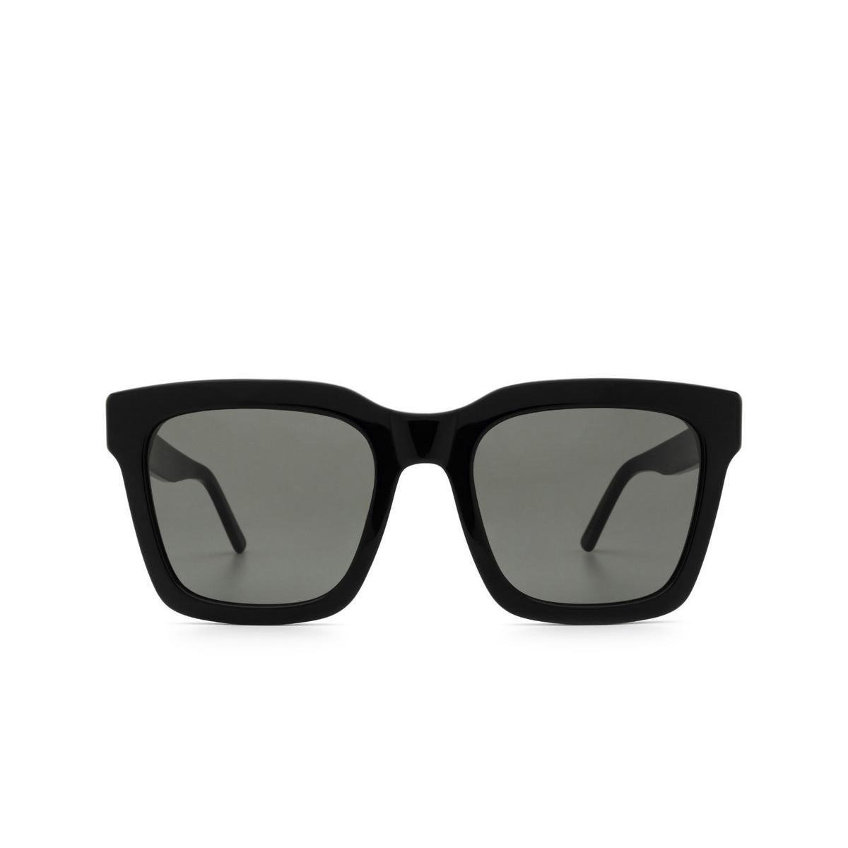 Retrosuperfuture® Square Sunglasses: Aalto color Black UR1 - front view.