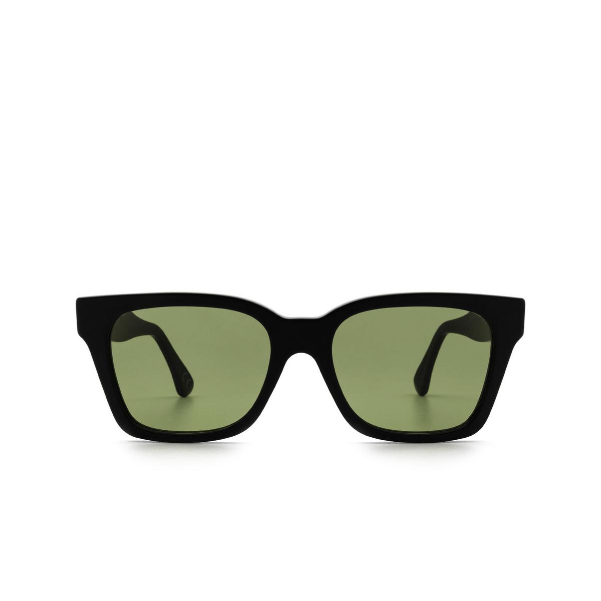 Retrosuperfuture® Square Sunglasses: America color Black Matte 5H9 - front view.