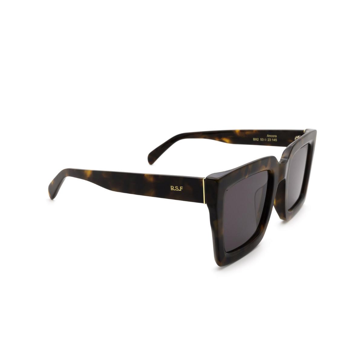 Retrosuperfuture® Square Sunglasses: Ancora color Classic Havana BX2 - three-quarters view.