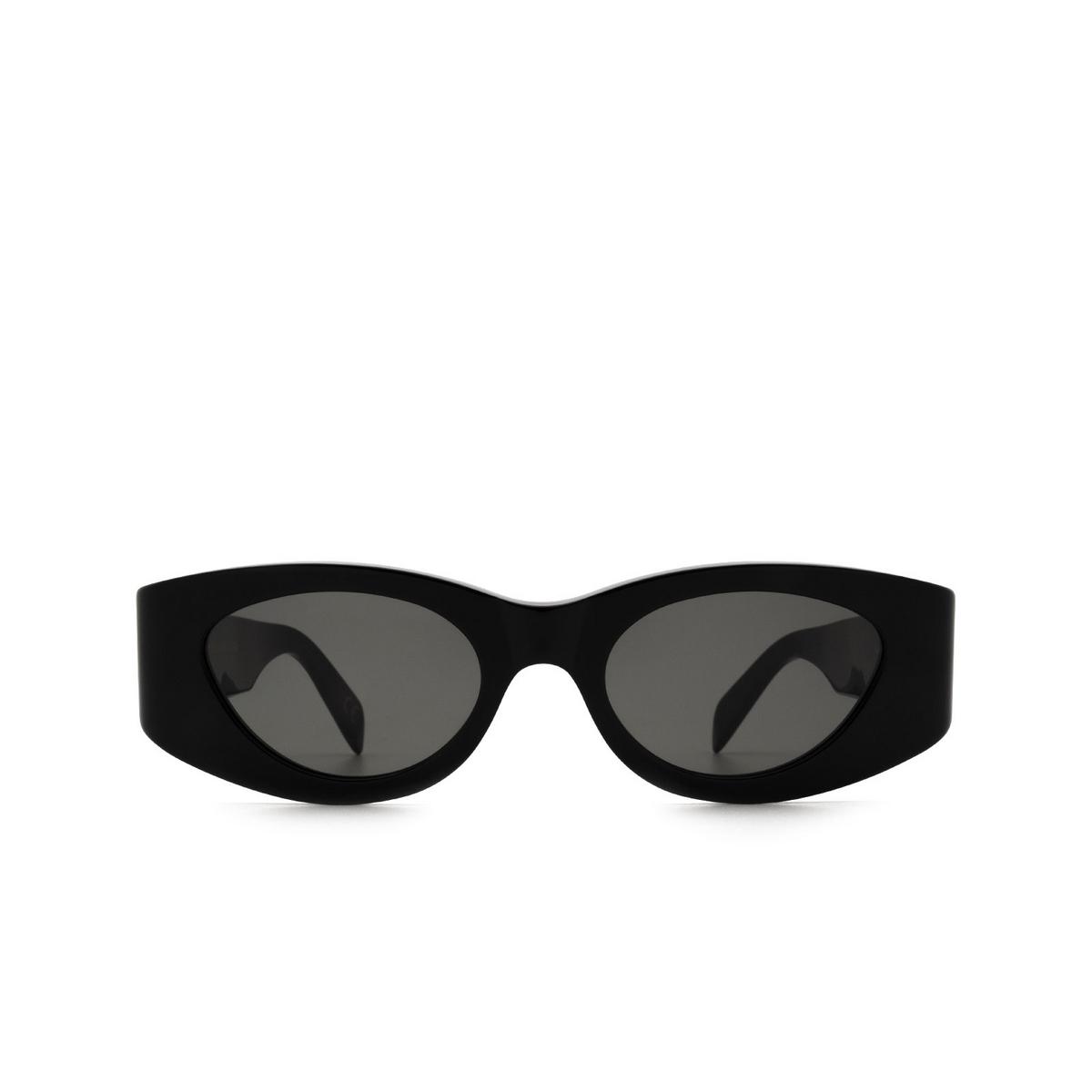 Retrosuperfuture® Oval Sunglasses: Atena color Black JM6 - front view.