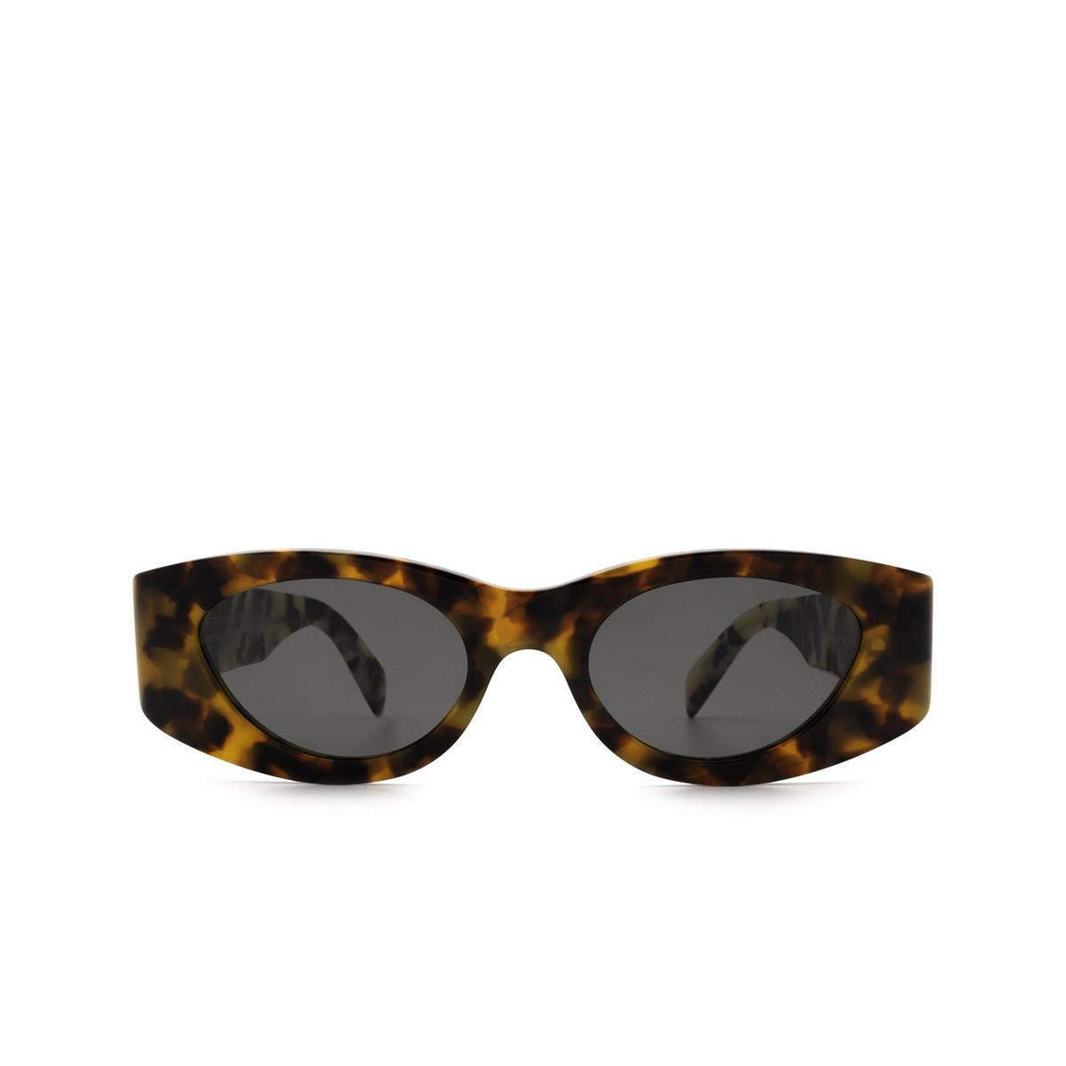 Retrosuperfuture® Oval Sunglasses: Atena color Orgia Havana LL0 - front view.