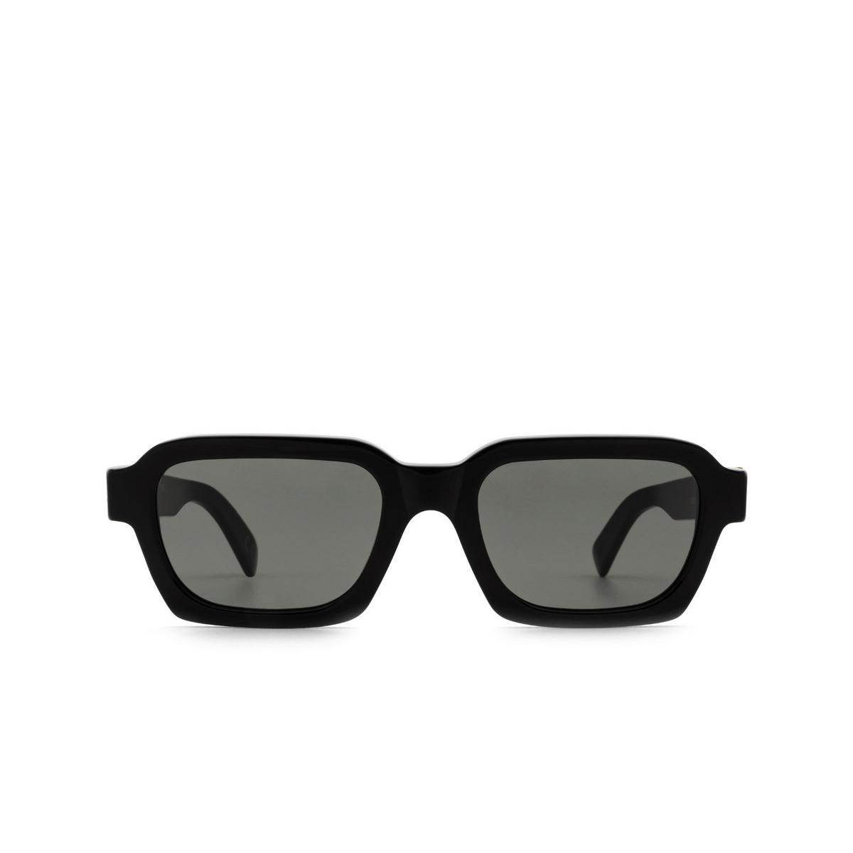 Retrosuperfuture® Rectangle Sunglasses: Caro color Black Njs - front view.