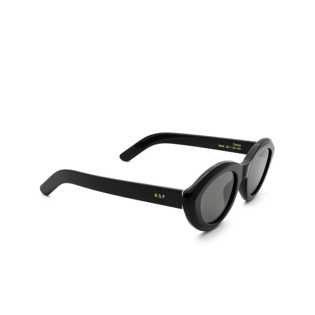 Retrosuperfuture® Cat-eye Sunglasses: Cocca color Black W4A - three-quarters view.
