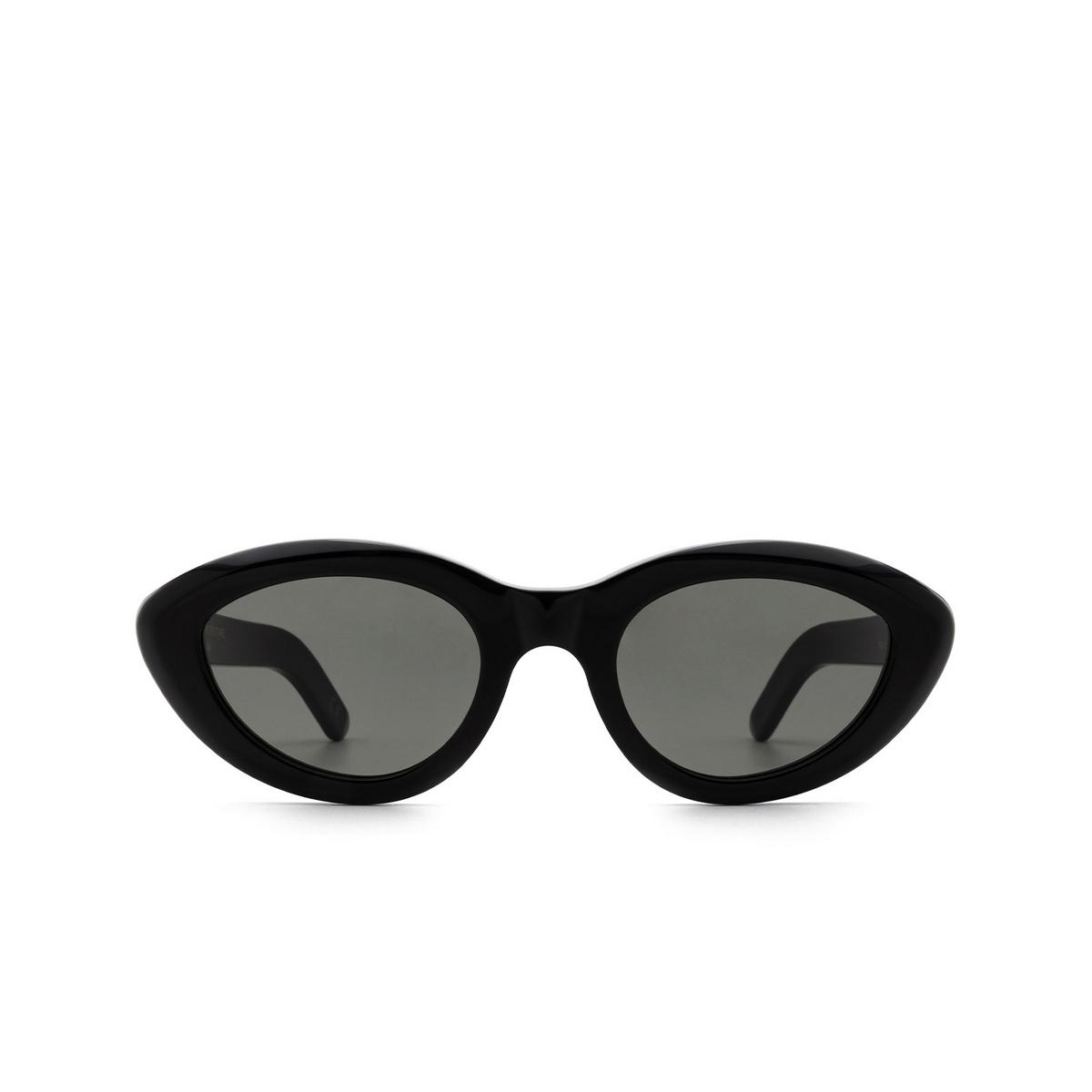 Retrosuperfuture® Cat-eye Sunglasses: Cocca color Black W4A - front view.