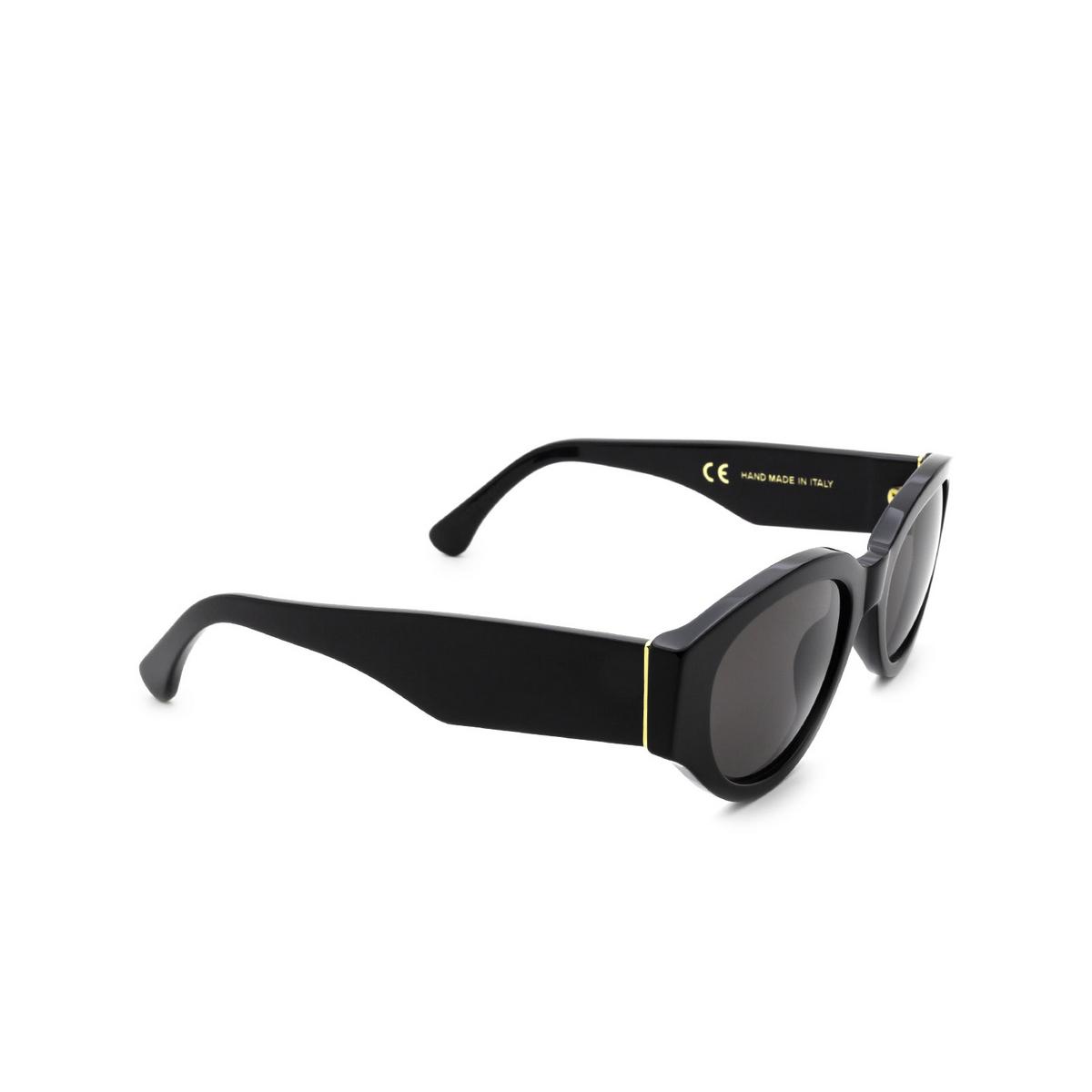 Retrosuperfuture® Oval Sunglasses: Drew Mama color Black BC8 - three-quarters view.